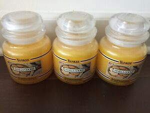 NEW - SET OF THREE - Yankee Candle Vanilla Cookie  - 14.5 oz Black Bands - RARE