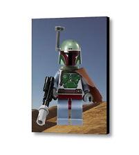 Framed Hi-Res Star Wars Boba Fett Lego Mini Fig 9X11 Inch Art Print