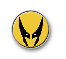 "WOLVERINE / 1"" / 25mm pin button / badge / Marvel / X-Men / Stan Lee / Mutant"