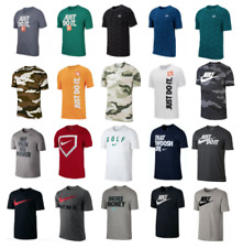 Nike T Shirts Mens Small to 3XL Authentic Short Sleeve Graphic Cotton Crew Tees