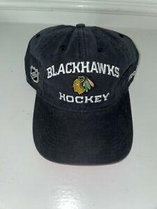 NWOT CHICAGO BLACKHAWKS HOCKEY NHL Cap Hat Reebok Adjustable retail $24