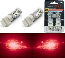 LED Light 50W 3157 Red Two Bulbs Front Turn Signal Replace Upgrade Show Use Lamp