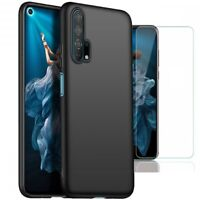 For Honor 20 Pro Case Slim Silicone Cover & Glass Screen Protector