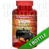 Piping Rock Ultimate Horny Goat Weed Complex 100 Caps Maca/L-Arginine/Tribulus