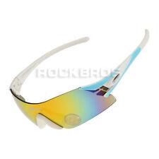 RockBros Polarized Cycling Sports Glasses Three Interchangeable Lens Blue White