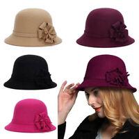 Womens 1920s Vintage Style Fashion Wool Knit Cloche Beret Bucket Hat