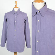 MENS TOMMY HILFIGER PURPLE CHAMBRAY STYLE SMART WORK SHIRT SUIT JACKET XL
