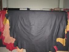 1 Lederhaut,Rindnappaleder,gedeckt schwarz  ca. 3,76 qm,1,0-1,2 mm