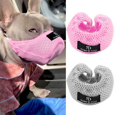 Adjustable Mesh Dog Muzzle Anti-Biting Barking Nylon Muzzle for French Bulldog