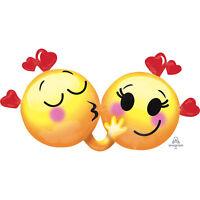 Happy Valentine's Day Love Supershape Emoticons in Love Emoji Heart Balloon