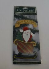 New Santa Sleigh The Naturals Wood Christmas Ornament Unpainted Wire Kit