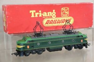 TRIANG R257 DARK GREEN TC TR SHIELD DOUBLE ENDED ELECTRIC LOCO 7503 BOXED nx