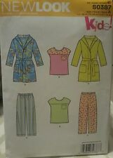 New Look Kids! by Simplicity S0387 Sewing Pattern For Robes & PJs Sizes 1/2 - 4
