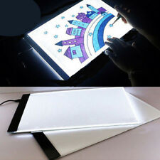 A4 LED Artist Thin Art Stencil Board Light Box Tracing Drawing Board Table AU