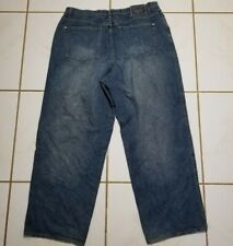 VINTAGE Marithe Francois Girbaud Jeans Pants 42x34 Blue HipHop Distressed B1488