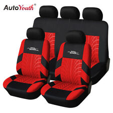 AUTOYOUTH Full Set of Car Seat Cover Car Protector Car Seat Decoration Red