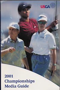 2001 USGA Championships Media Guide Tiger Woods, Karrie Webb, Hale Irwin
