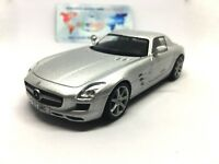 Mercedes-Benz SLS AMG Luxury Silver Sports Diecast Model Car 1:43 Scale (2010)