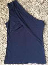 NWT MNG by Mango navy blue summer woman top size S