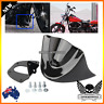 Black Motorcycle Front Chin Spoiler Air Dam Fairing Cover Mudguard Harley dyna