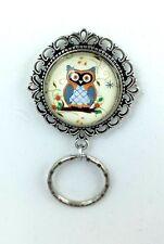 Cute Little Owl  Magnetic ID Badge Eyeglass Holder Pin Brooch (owl design #1)