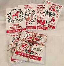 Tarjetas de Navidad escandinavo Folk Art 4 Pack Navidad Feliz Navidad