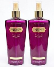 2 Victoria's Secret PASSIONATE KISSES Fine Fragrance Mist CHERRY VANILLA