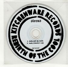 (GO441) Sirens, Baby - DJ CD