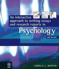 Interactive Approach to Writing Essays and Research Reports in Psychology 3E (3r