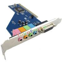NEW 4 Channel 5.1 Surround 3D PCI Sound Audio Card MIDI for PC Windows XP/7/8/10