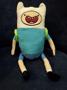 "Adventure Time Finn The Human 14"" Plush Doll The Adventurous w/ Backpack VGUC"