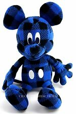 "D23 Expo 2015 Uni Qlo Disney Project Mickey 11"" Plush Toy Printed Fleece 67 Blue"