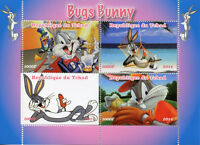 Chad 2014 MNH Bugs Bunny Daffy Duck 4v M/S Cartoons Animation Stamps