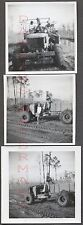 Lot of 3 Vintage Photos Family on Swamp Buggy SUV WWII Surplus 4x4 Truck 662498