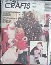 "McCall's Sewing Pattern 5566 Santa Suit Size 34, 36 Santa Doll 25"" Uncut Doll"