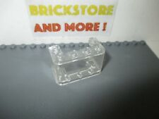 4x Brick Brique 2x4 4x2 3001 Trans Clear Transparent Lego