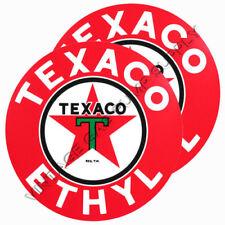 "Pair of Texaco Ethyl 3"" Vinyl Decals (DC178C)"