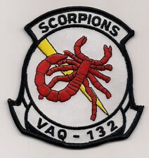 USN VAQ-132 SCORPIONS patch ELECTRONIC ATTACK SQN