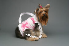 Pink white breast cancer puppy purse dog pet carrier sling harness S M L XL XXL