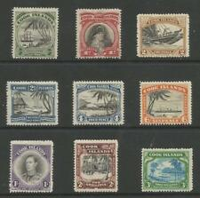 COOK ISLANDS ,NEW ZEALAND SG137-45 THE 1944-6 GVI SET OF 9 MINT CAT £95