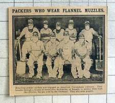 1915 Flannel Muzzles Protect Bleaching Powder Packers From Chlorine Gas