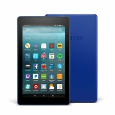 """New Amazon Fire 7 Tablet with Alexa, 7"""" Display, 8 GB, Blue Special Offers IPS"""