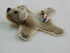 "Falcon Miniature Animal 1/4""  Scale 0.5"" Jack Russell Dog Puppy w/rug #4714-R"