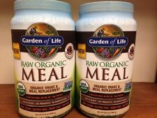 Lot Of (2) Garden Of Life Raw Meal Chocolate 35.9oz Gluten Free NOT Recalled
