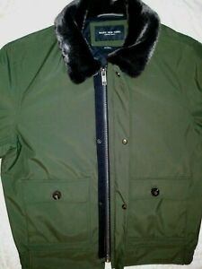 NEW W/ TAGS, MARC NEW YORK, MENS JACKET. FUR COLLAR, ARMY GREEN COLOR. SIZE MED
