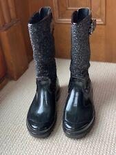 NEW STUART WEITZMAN Black Patent Leather & Crystal Styled Boots - Rain / Snow