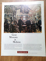 1961 Parke Davis Ad Great Moments Medicine Founding The American Medical Assc