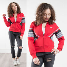 ADIDAS RED STRIPED PANEL ZIP FASTEN TRACKSUIT JACKET TOP RETRO TREFOIL SPORTS 8