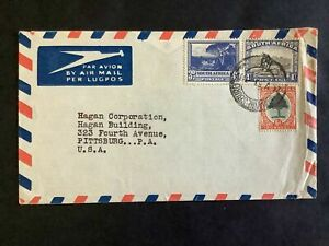 South Africa 1954 Joburg Pittsburgh Commecial Air Mail 1/9d