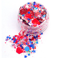 Red, White & Blue Chunky Glitter Mix For Nails, Tumbler, Crafts, Makeup & Resin